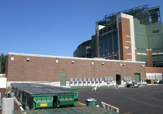 Lambeau Field Network Lot - Carpentry Work by Mission Support Services